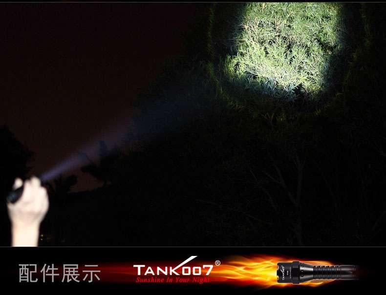 夜驴骑行强光手电筒TK737迷你调焦户外装备tank007