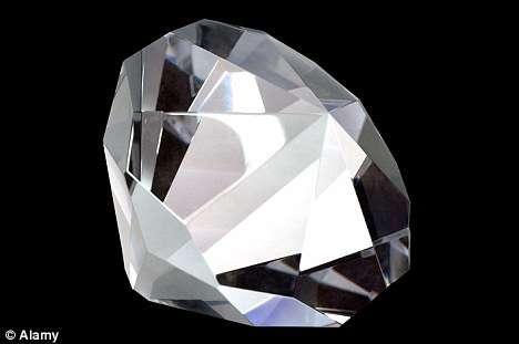 真正的钻石在探客紫光手电的照射下是会发光的