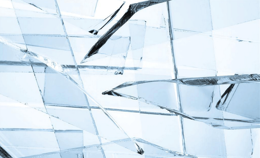 LED手电筒普通玻璃镜片破碎